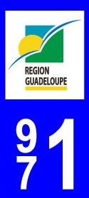 Logo plaque immatriculation Guadeloupe